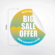 best circle sticker printing free delivery london e1 near me