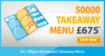 cheap restaurant menu folded leaflet printer in london near me