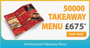cheap restaurant menu folded leaflet printer in london near me