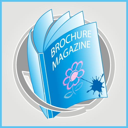 STAPLED BOOKLETS BROUCHER MAGAZINE