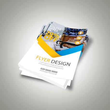 cheap instant last minute quality single and double sided 170gsm matt flyers leaflets printing shop in east london brick lane near me