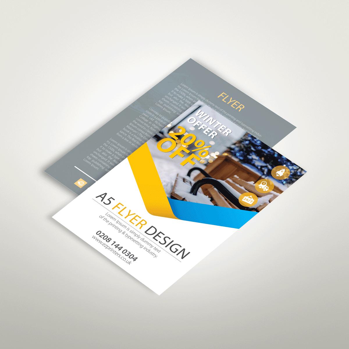 a5 flyers leaflets printing london ez printers