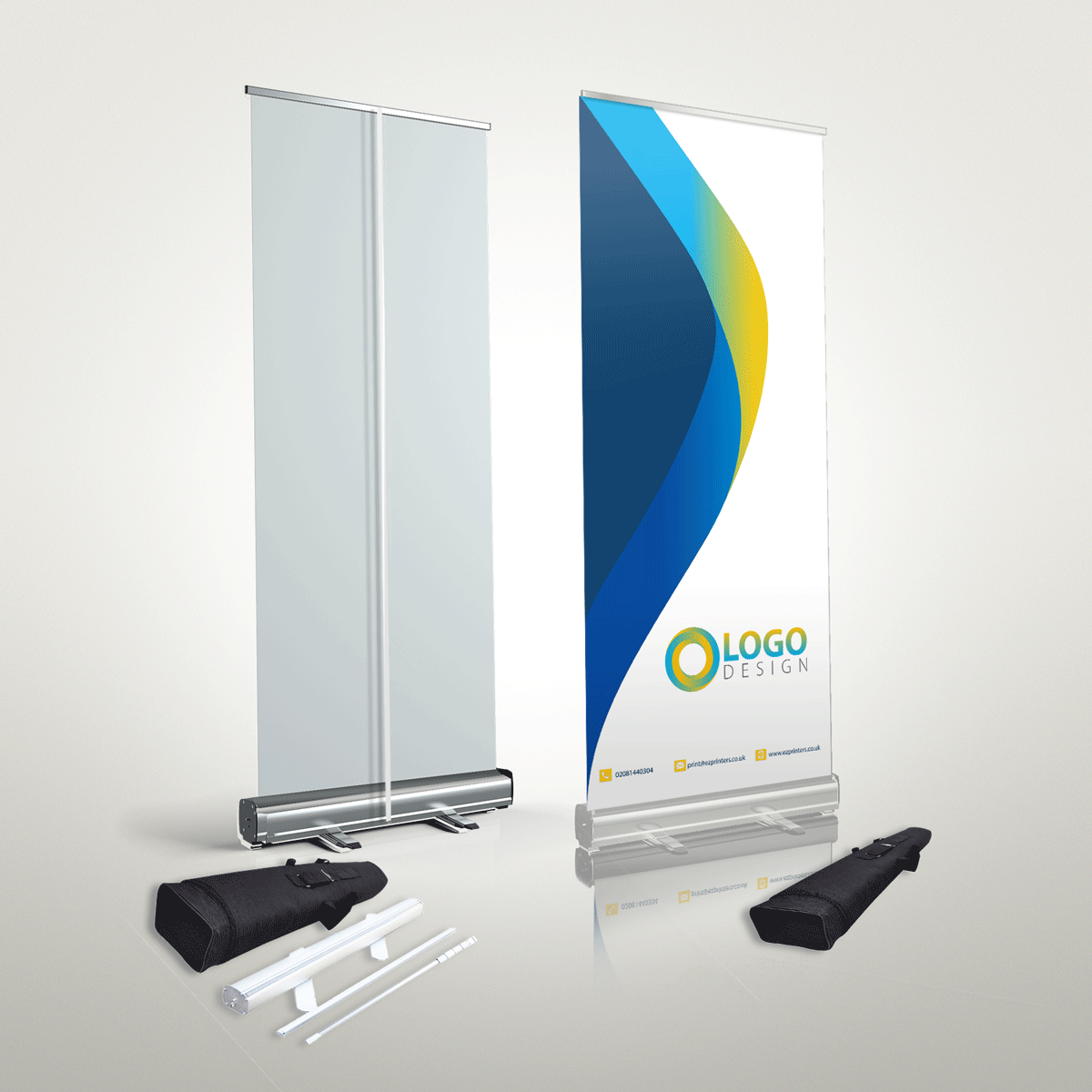 london cheap pvc roller banner pop banner free delivery london e2 near me