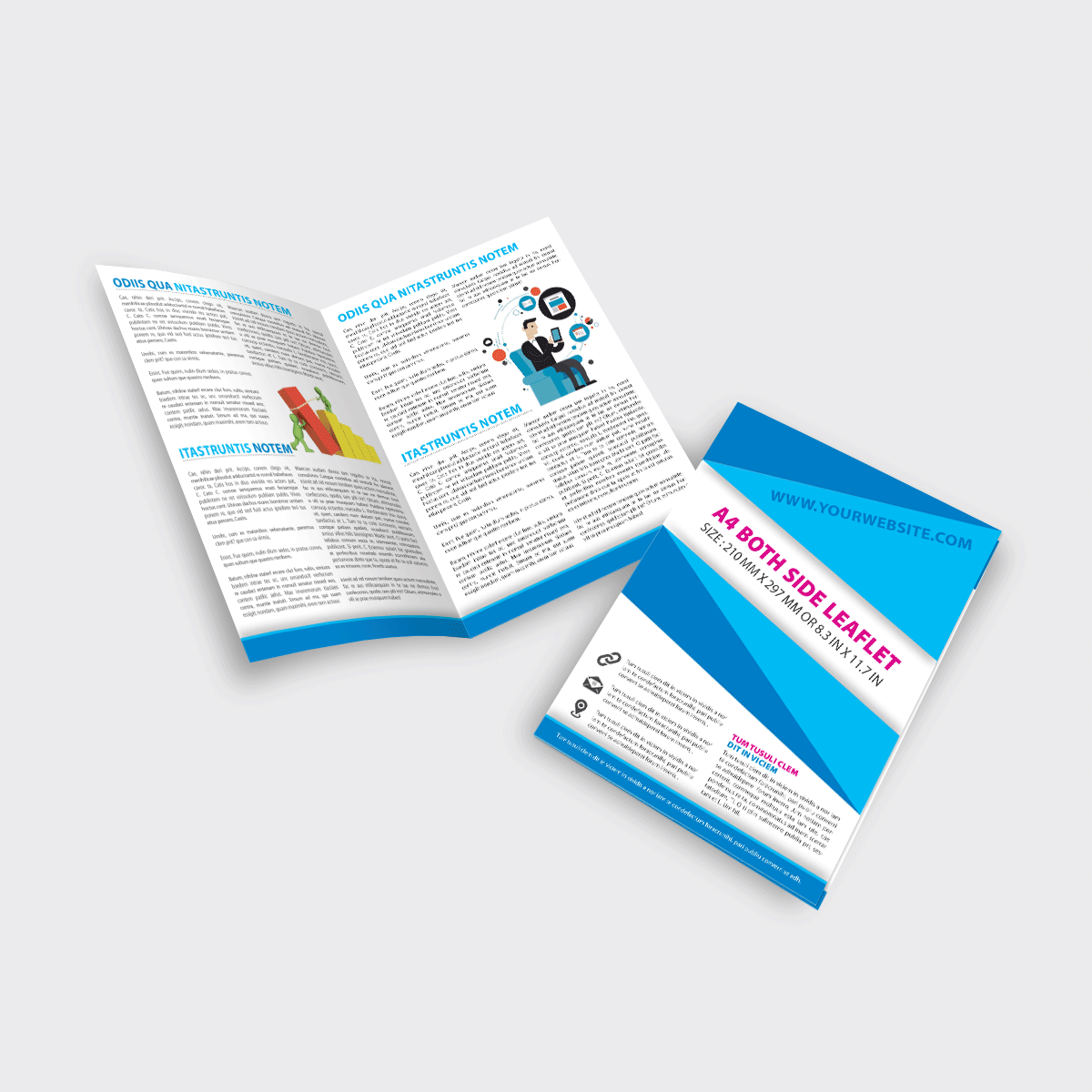 A4 Both Folded Flyer and leaflets