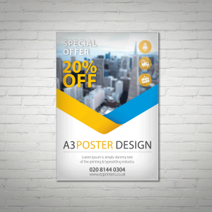 cheap high quality a3 poster trade printer company london e1 near me