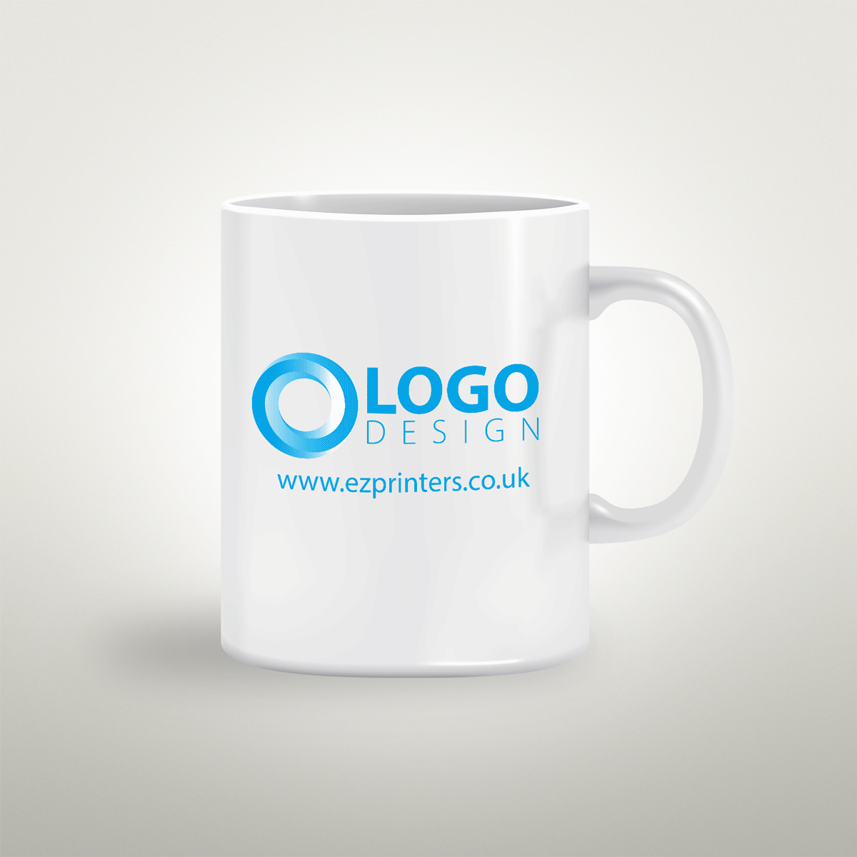 cheap range one colour super gloss print 11oz cambridge mugs printing shop in london local near me