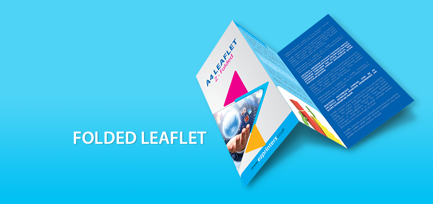 instant printed folded leaflet takeaway menu printers in london