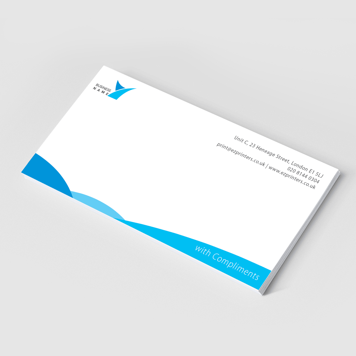 compliment slips ez printers e1 london