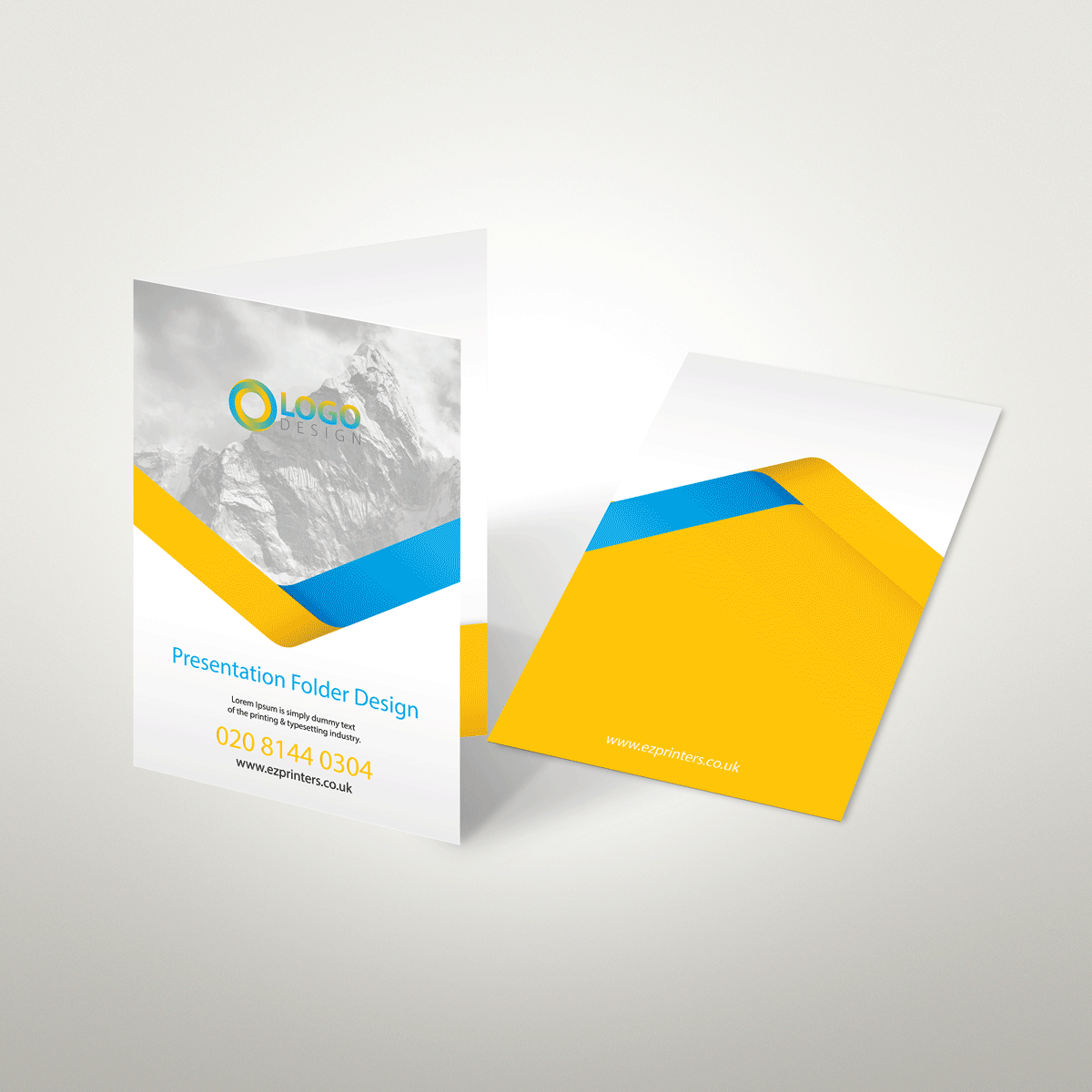 trade price glued presentation folder high quality printing london e2 near me