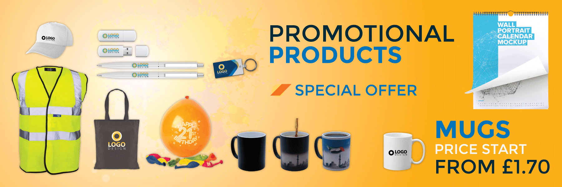 instant print promotional products mugs pens mouse pad keyrings caps and bags printing shop in london