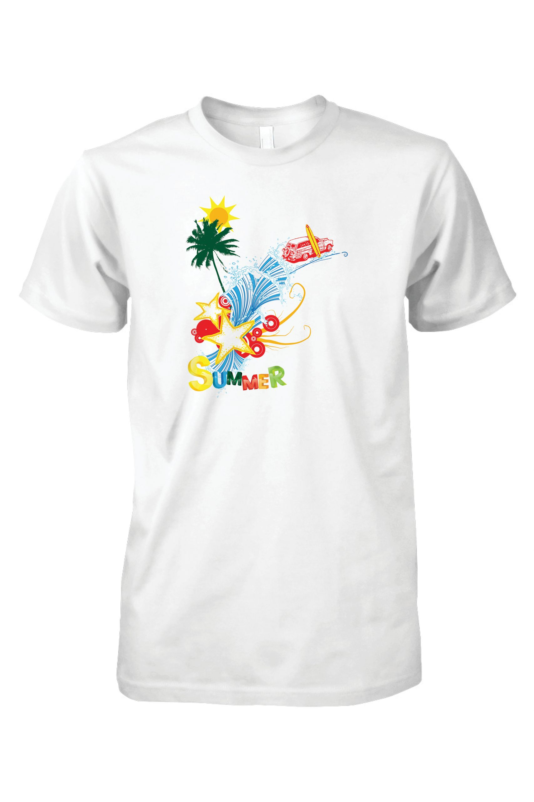 Affordable quality summer t-shirt print.