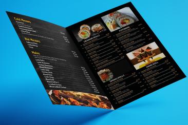 restaurent menu print London