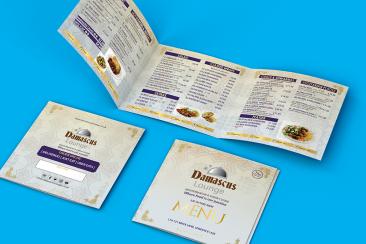 restaurent menu printing