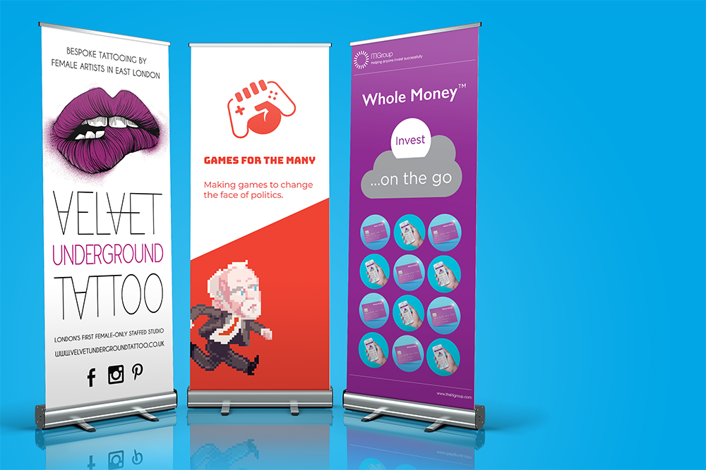 roller banners near me in uk