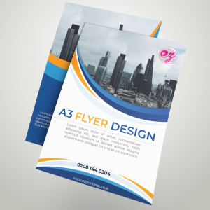 A3 Flyer printing in London.