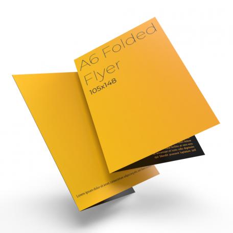 A6 4pp 105mm x 148mm folded leaflets.