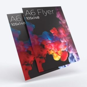 Affordable instant high quality A6 single and double sided flyers leaflets printing shop in east london near me.