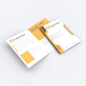 Folded leaflets.